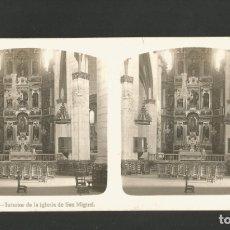 Fotografía antigua: VITORIA-GASTEIZ-IGLESIA DE SAN MIGUEL-FOTOGRAFIA ESTEREOSCOPICA-VER REVERSO-(V-17.516). Lote 175547743