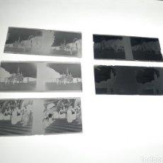Fotografía antigua: 5 PLACAS ESTEREOSCOPICAS CRISTAL NEGATIVO. LOURDES. PRINCIPIOS DE SIGLO XX. Lote 175618964