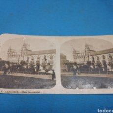 Fotografía antigua: FOTO ESTEREOSCOPICA, COLECCIÓN A. MARTIN, N ° 6 ALBACETE - CASA CONSISTORIAL. Lote 176130550