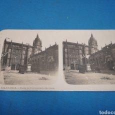 Fotografía antigua: FOTO ESTEREOSCOPICA, N ° 9 SALAMANCA - FACHADAS UNIVERSIDAD E INSTITUTO. Lote 176203722
