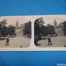 Fotografía antigua: FOTO ESTEREOSCOPICA, COLECCIÓN A. MARTIN, N°6 BILBAO - SAN NICOLÁS. Lote 176208564