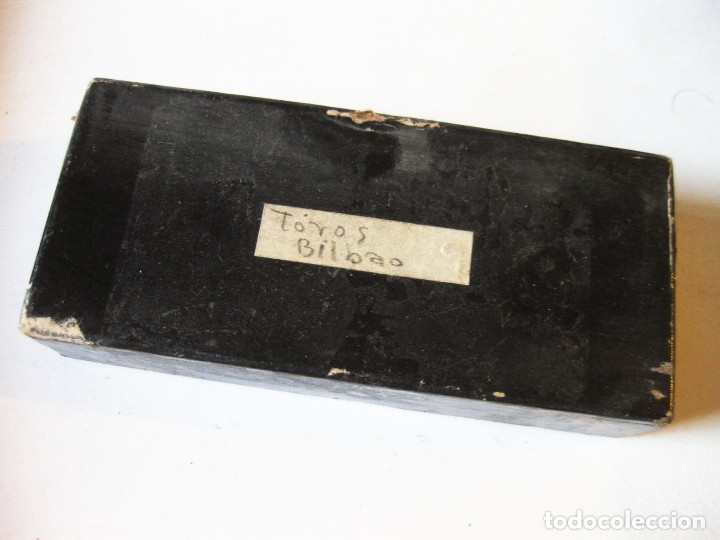 Fotografía antigua: Lote de Placas estereoscópicas. Toros en Bilbao. Principios del siglo XX. Toro fogeado. M. Riaza. - Foto 2 - 176290105