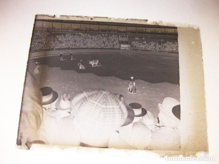 Fotografía antigua: Lote de Placas estereoscópicas. Toros en Bilbao. Principios del siglo XX. Toro fogeado. M. Riaza. - Foto 6 - 176290105
