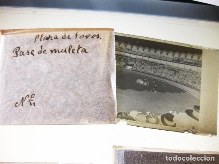 Fotografía antigua: Lote de Placas estereoscópicas. Toros en Bilbao. Principios del siglo XX. Toro fogeado. M. Riaza. - Foto 10 - 176290105