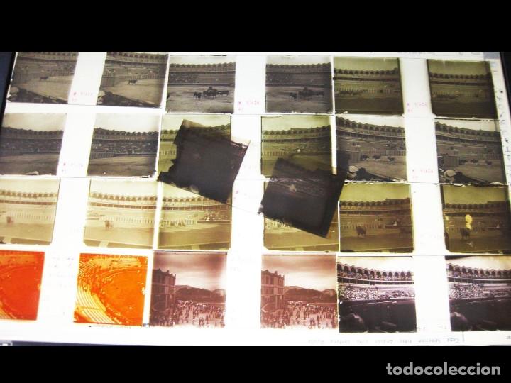 Fotografía antigua: Lote de Placas estereoscópicas. Toros en Bilbao. Principios del siglo XX. Toro fogeado. M. Riaza. - Foto 14 - 176290105