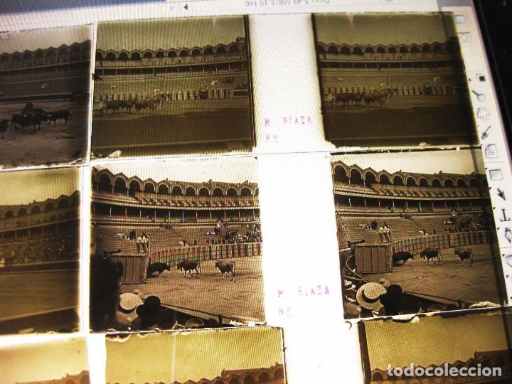 Fotografía antigua: Lote de Placas estereoscópicas. Toros en Bilbao. Principios del siglo XX. Toro fogeado. M. Riaza. - Foto 17 - 176290105