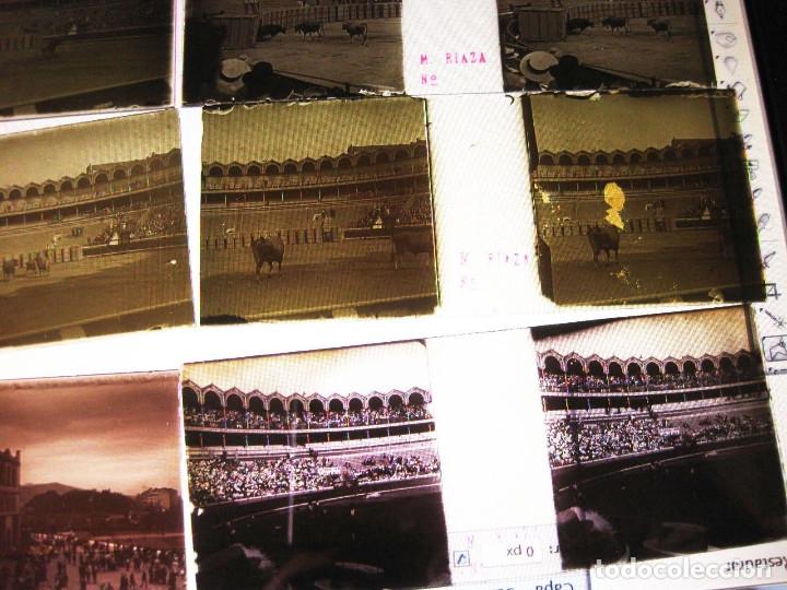 Fotografía antigua: Lote de Placas estereoscópicas. Toros en Bilbao. Principios del siglo XX. Toro fogeado. M. Riaza. - Foto 18 - 176290105