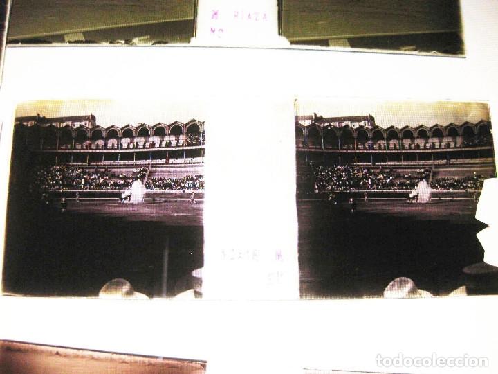 Fotografía antigua: Lote de Placas estereoscópicas. Toros en Bilbao. Principios del siglo XX. Toro fogeado. M. Riaza. - Foto 19 - 176290105