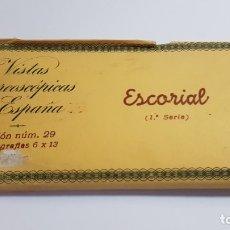 Fotografía antigua: RELLEV - VISTAS ESTEREOSCOPICAS DE ESPAÑA - COLECCION 29 ESCORIAL 1 SERIE - 15 FOTOS. Lote 176299679