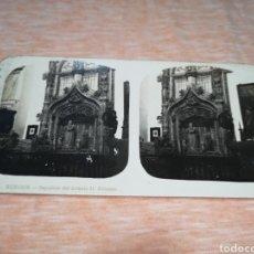 Fotografía antigua: FOTO ESTEREOSCOPICA, COLECCIÓN A. MARTIN, N ° 11 BURGOS - SEPULCRO DEL INFANTE D. ALFONSO. Lote 176301762