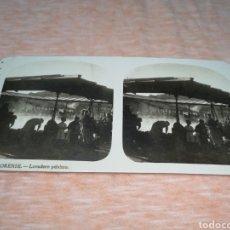 Fotografía antigua: FOTO ESTEREOSCOPICA, COLECCIÓN A. MARTIN, N ° 7 ORENSE - LAVADERO PÚBLICO. Lote 176302244