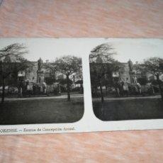 Fotografía antigua: FOTO ESTEREOSCOPICA, COLECCIÓN A. MARTIN, N °8 ORENSE - ESTATUA DE CONCEPCIÓN ARENQL. Lote 176349985