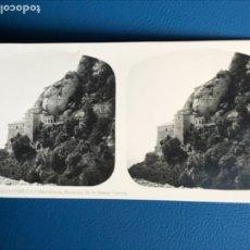 Fotografía antigua: ANTIGUA ESTEREOSCOPIA MONTSERRAT A MARTIN ESTEREOSCOPICA 22 EXTERIOR BASILICA FOTO BARCELONA . Lote 176615514