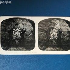 Fotografía antigua: ANTIGUA ESTEREOSCOPIA MONTSERRAT A MARTIN ESTEREOSCOPICA 13 TERCER MISTERIO DEL DOLOR FOTO BARCELON . Lote 176616003