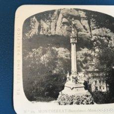 Fotografía antigua: ANTIGUA ESTEREOSCOPIA MONTSERRAT A MARTIN ESTEREOSCOPICA 20 VIA CRUCIS MONUMENTO BARCELON . Lote 176616075