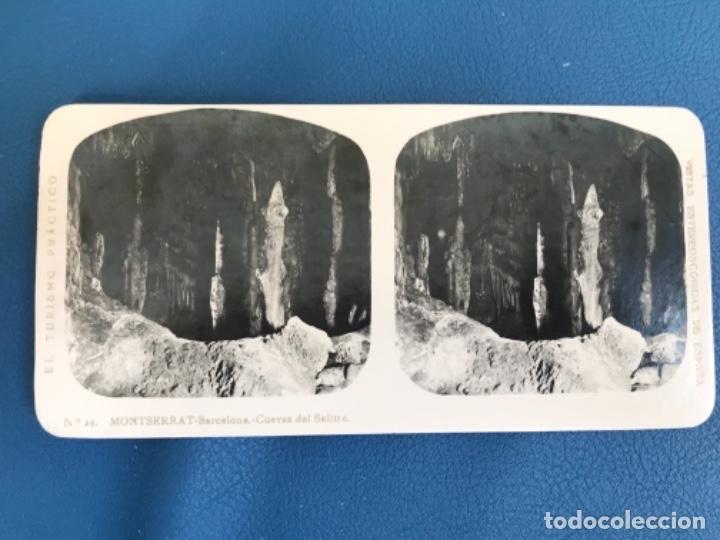 ANTIGUA ESTEREOSCOPICA MONTSERRAT A MARIN FOTO 21 CUEVAS DEL SALITRE TURISMO PRACTICO (Fotografía Antigua - Estereoscópicas)