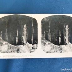 Fotografía antigua: ANTIGUA ESTEREOSCOPICA MONTSERRAT A MARIN FOTO 21 CUEVAS DEL SALITRE TURISMO PRACTICO. Lote 176616198
