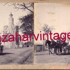 Fotografía antigua: SEVILLA, 1908, PASEO DE LA TORRE DEL ORO, RARISIMA. Lote 176677535