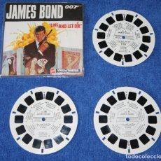 Fotografía antigua: JAMES BOND 007 - LIVE AND LET DIE - VIVE Y DEJA MORIR - VIEW MÁSTER - VIEWMASTER (1973). Lote 176684372