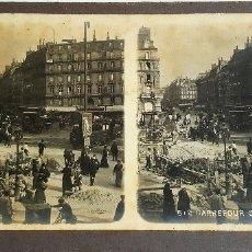 Fotografía antigua: F 2755 ESTEREOSCOPICA CRUCE SANT LAZARO - CARREFOUR SAINT LAZARE PARIS 512 - COLLECTION PHOTO-STEREO. Lote 176867764