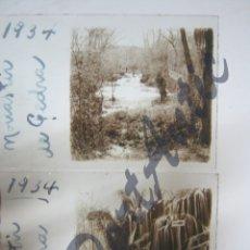 Fotografía antigua: AÑO 1934 - MONASTERIO DE PIEDRA ( ZARAGOZA) - 2 PLACAS CRISTAL. Lote 177202308