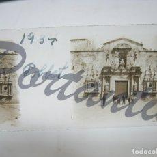 Fotografía antigua: AÑO 1934 POBLET TARRAGONA - FACHADA PUERTA DEL MONASTERIO. Lote 177205019