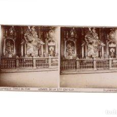 Fotografía antigua: ZARAGOZA.- TEMPLO DEL PILAR. ALTARES DE SANTA CAPILLA.. Lote 177566667