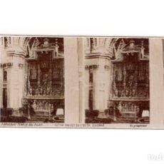 Fotografía antigua: ZARAGOZA.- TEMPLO DEL PILAR. ALTAR MAYOR EN FIESTA SOLEMNE.. Lote 177567218