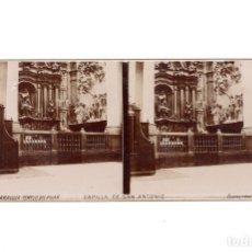 Fotografía antigua: ZARAGOZA.- TEMPLO DEL PILAR. CAPILLA DE SAN ANTONIO.. Lote 177567323