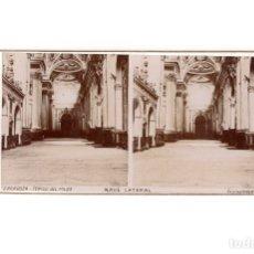 Fotografía antigua: ZARAGOZA.- TEMPLO DEL PILAR. NAVE LATERAL.. Lote 177568020