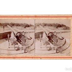 Fotografía antigua: CARTAGENA.(MURCIA).- POSICIONES DE ARTILLERÍA.. Lote 177678917