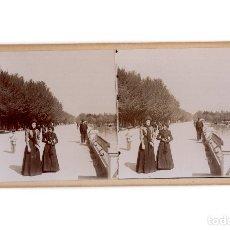 Fotografía antigua: MADRID.- ESTANQUE DEL PARQUE DEL RETIRO.. Lote 178048867