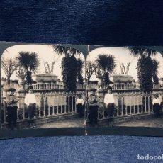 Fotografía antigua: FOTOGRAFIA IBERIA ESTEREOSCOPICA CORUÑA N 41 SEPULTURA DE SIR JHON MOORE VER FOTOS 9X18CMS. Lote 178056365