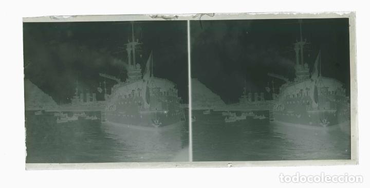 Fotografía antigua: BARCELONA. Puerto. Grandes buques de guerra. c.1930 - Foto 3 - 178072943