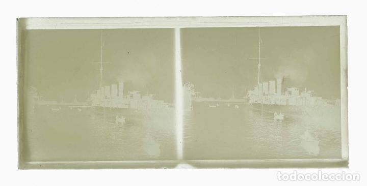 Fotografía antigua: Barcelona. Puerto. Buque de guerra. Preciosa foto. c. 1930 - Foto 3 - 178084399