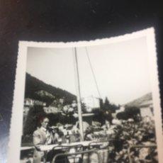 Fotografía antigua: FOTOGRAFIA VISTA DE LA PLAZA DEL JARDIN - 9X9CM. Lote 178175356