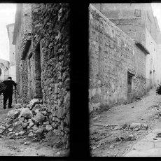 Fotografía antigua: VILLAR DEL ARZOBISPO FOTOGRAFO DOMINGO URIEL NEGATIVO CRISTAL. Lote 178323365