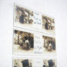 Fotografía antigua: LOTE 3 FOTOGRAFÍA ANTIGUA ESTEREOSCOPICA CRISTAL AÑO 1932 - BADALONA . FONT DE LA ROSA CATALUÑA . Lote 178388472