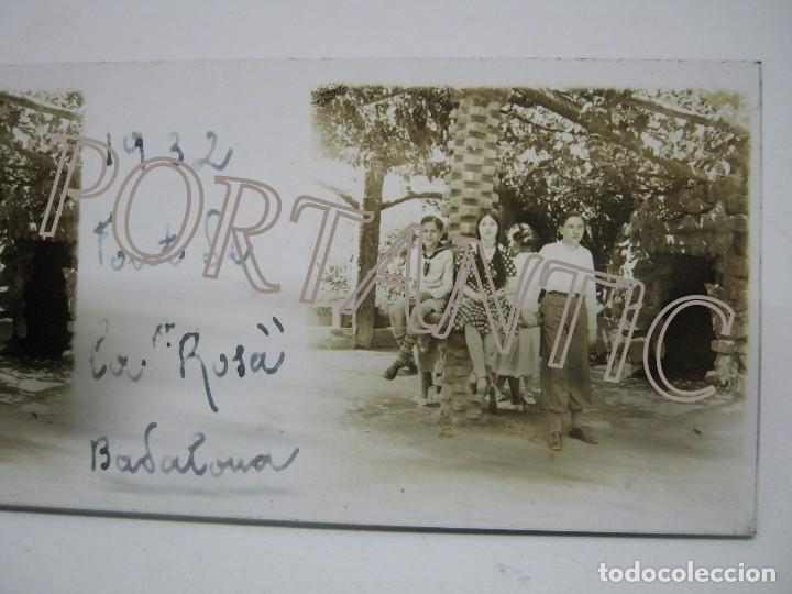 Fotografía antigua: LOTE 3 FOTOGRAFÍA ANTIGUA ESTEREOSCOPICA CRISTAL AÑO 1932 - BADALONA . FONT DE LA ROSA Cataluña - Foto 3 - 178388472