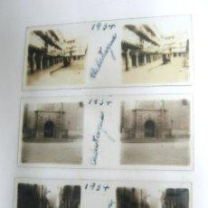 Fotografía antigua: LOTE 3 FOTOGRAFÍA ANTIGUA ESTEREOSCOPICA CRISTAL AÑO 1934 CALATAYUD. Lote 178588400