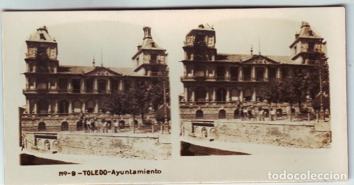 TOLEDO. ESTEREOSCOPICA DE TOLEDO AYUNTAMIENTO (Fotografía Antigua - Estereoscópicas)