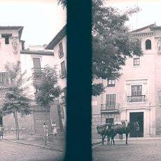 Fotografía antigua: GRANADA LA CASA DE LOS TIROS NEGATIVO CELULOIDE. Lote 179100592