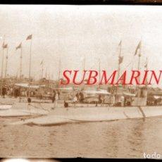 Fotografía antigua: SUBMARINOS - BARCELONA - 1929 - NEGATIVO DE CELULOIDE. Lote 179318946
