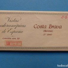 Fotografía antigua: COSTA BRAVA, GERONA- VISTAS ESTEREOSCOPICAS DE ESPAÑA - 2ª SERIE, COLECCION Nº 20 - 15 VISTAS RELLEV. Lote 179517820