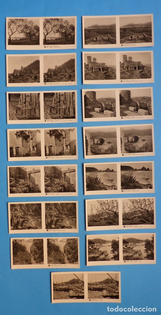 Fotografía antigua: COSTA BRAVA, GERONA- VISTAS ESTEREOSCOPICAS DE ESPAÑA - 2ª SERIE, COLECCION Nº 20 - 15 VISTAS RELLEV - Foto 2 - 179517820