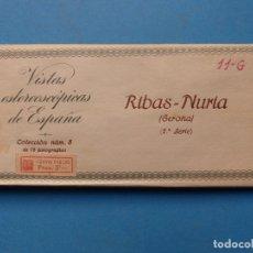 Fotografía antigua: RIBAS NURIA GERONA - VISTAS ESTEREOSCOPICAS DE ESPAÑA - 2ª SERIE, COLECCION Nº 8 - 15 VISTAS RELLEV. Lote 179519788