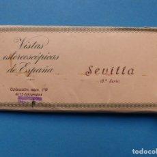Fotografía antigua: SEVILLA - VISTAS ESTEREOSCOPICAS DE ESPAÑA - 6ª SERIE, COLECCION Nº 119 - 15 VISTAS RELLEV. Lote 179519918