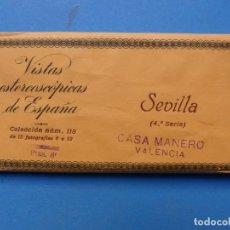 Fotografía antigua: SEVILLA - VISTAS ESTEREOSCOPICAS DE ESPAÑA - 4ª SERIE, COLECCION Nº 118 - 15 VISTAS RELLEV. Lote 179519977