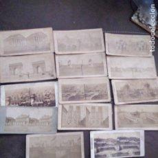 Fotografía antigua: LOTE DE 14 ESTEREOSCOPICAS FRANCIA PARIS LYON COTEAU DE FOURVIERES ETC 18X9 CM . Lote 179555898