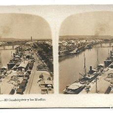 Fotografía antigua: SEVILLA Nº 3 EL GUADALQUIVIR Y LOS MUELLES .- EDICION A. MARTIN . Lote 180114840